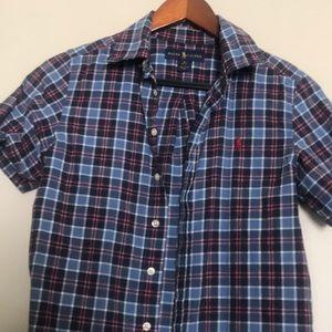 Ralph Lauren plaid short sleeve button up shirt
